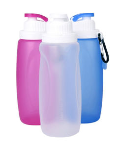320ml Mini silicone water bottle, Foldable Silicone Water Bottle, Magic water bottle
