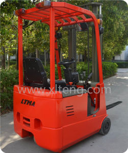 Ltma Manual Hydraulic Forklift 1t 1.5t 3-Wheel Semi-Electric Forklift pictures & photos
