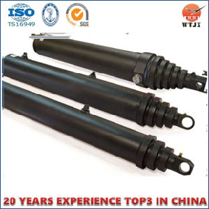 Front Mount Multistage Telescopic Hydraulic Cylinder for Trailer pictures & photos