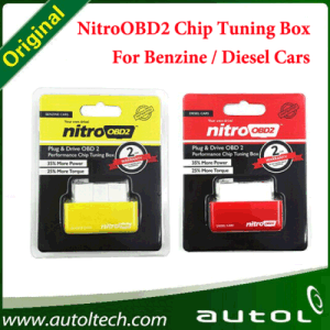 Newly Red/ Yellow Nitro OBD2 Chip Tuning Box Nitroobd2 for Benzine/Diesel Cars More Power / More Torque Nitroobd2 Plug and Drive OBD2 Tools pictures & photos