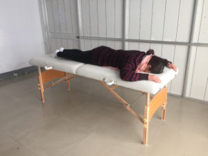 Wooden Portable Massage Table with Breathing Hole Mt-003 pictures & photos