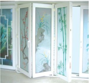 Economic PVC Vinyl Folding Bifold Interior Door pictures & photos