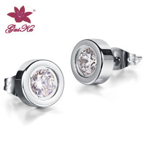 CZ Stones Stainless Steel Fashion Silver Earrings pictures & photos