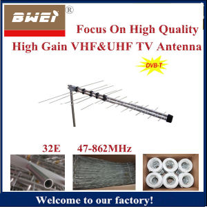 Logarithmic TV Antenna-32 Element with VHF and UHF Frequency pictures & photos