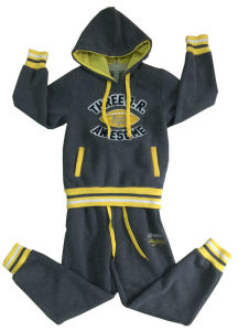 Children Babay Clothes with Hood in Track Suits, Sports Suits with Printing Swb-115 pictures & photos