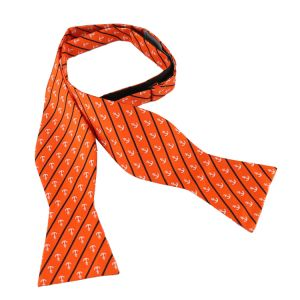 Pure Natural Silk Woven Self-Tied Bow Tie Orange Custom Made Self Bowtie pictures & photos
