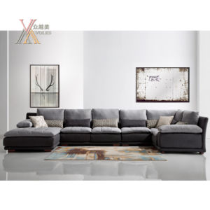 Modern Fashion Fabric Sofa Free Combination Filled with Feather (1610)