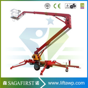10m to 12m Hydraulic Aerial Trailed Boom Lift pictures & photos