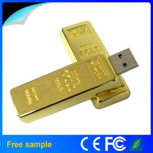 Wholesale Real Capacity 8GB Metal Gold Bar USB Flash Drive pictures & photos