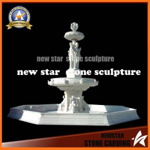 White Stone Carving Water Feature Fountain for Garden Decoration (NS-1150) pictures & photos