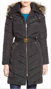 Wholesale OEM Latest Design Belted Ladies Long Padded Winter Coat pictures & photos