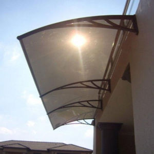 1000 * 1200 Aluminum PC Awning Canopy with Polycarbonate Solid Sheet pictures & photos