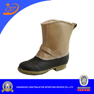 Fashion Mens PVC Upper Khaki Winter Snow Boots (XD-171)