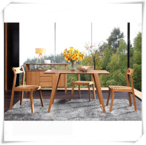 Carbonized Vertical Solid Bamboo Dining Table pictures & photos