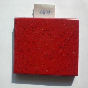 Polished/Red Artificial Quartz for Kitchen Countertops/Bathroom Vanitytops/Dining Table/Worktop/Brick Cladding pictures & photos
