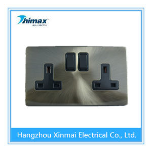 Th406 13A 2 Gang Switched Socket, Single Pole pictures & photos