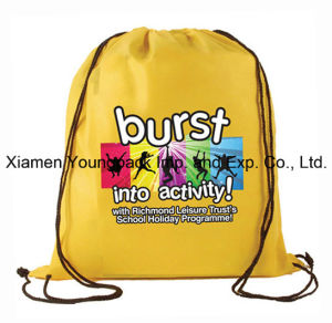 Digital Logo Printed Non-Woven Custom Drawstring Bag for Promotional pictures & photos