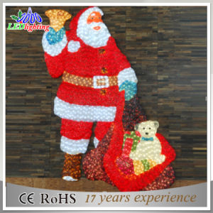 Hot Christmas Decoration 3D Acrylic Santa Claus pictures & photos
