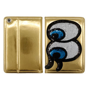 Bling Big Eyes Leather Cases with Angle Adjust for iPad