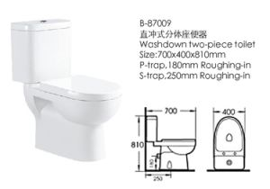 Hot Sell Washdown Two-Piece Toilet (87009) pictures & photos