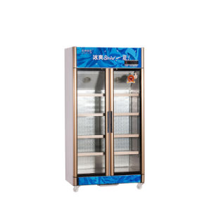 600L Vertical up Unit Opening Multi-Door Display Refrigerator