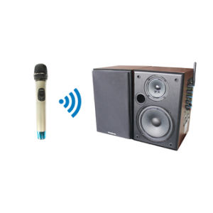 Professional Wireless Handheld Microphone and Brown Speaker System pictures & photos