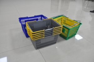 Plastic Shopping Basket in Different Color pictures & photos