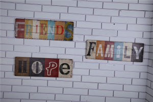 Shabby Chic Wooden Plaque Home Decor Factory Wholesale Wood Sign pictures & photos