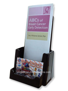 Black Tri Fold Literature Brochure Stand for 4X9 pictures & photos