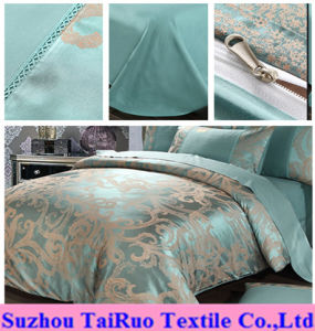 100% Polyester Jacquard Satin for Bedding Set pictures & photos