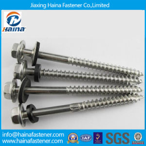 M8 Stainless Steel Hex Washer Head Cutting Thread Screw pictures & photos
