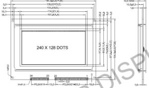 240X128 Dots, Graphic LCD Module: AGM2412A Series pictures & photos