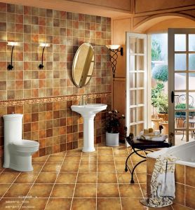 Yellow and Gold Ceramic Tiles Popular in Weastern House Decoraiton pictures & photos