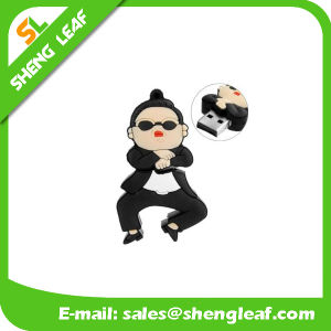 Promotional Gift Fashionable Customized Rubber USB Flash Drive (SLF-RU020) pictures & photos