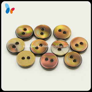 Two Holes Nature Smoke Trocas Shell Button for Shirt pictures & photos