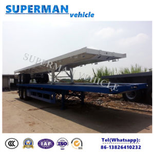 Utility Bogie Axle 40FT Flatbed Cargo Trailer for Sales pictures & photos