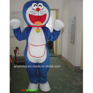 Party Cartoon Character Doraemon Cat Fur Mascot Animal Costume for Sale pictures & photos