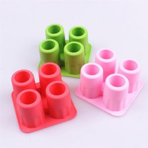 4-Cup Ice Cube Shot Shape Silicone Shooters Freeze Molds pictures & photos