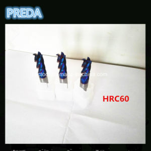 HRC60 Coated 2/4 End Mills for Machining Hardness Steel pictures & photos