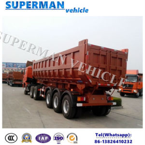 30-35cbm Tri Axle Sand/ Coal Transport Dump Tipping Tipper Trailer pictures & photos