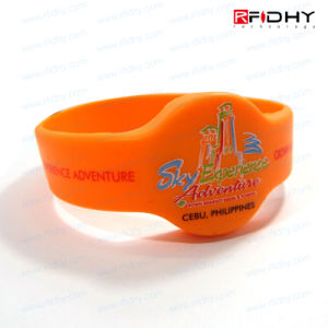 Bulk Children Wristbands Debossed RFID Silicone Wristbands for Swimming Pool pictures & photos