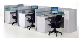 Modern Modular Office Cubicle Workstation with Side Cabinet (HF-YT318) pictures & photos