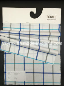 Finished Fabric 100% Cotton Plain Weave White Ground Printed Multi-Color Plaid pictures & photos