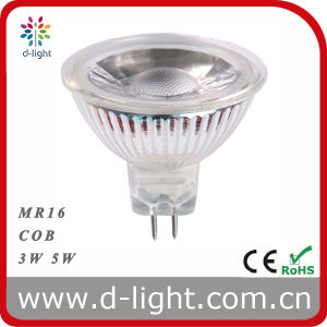 LED COB MR16 Spotlight 3W 5W 7W Glass Body