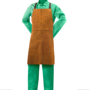 Heavy Duty Heat Resistant Leather Welding Apron pictures & photos