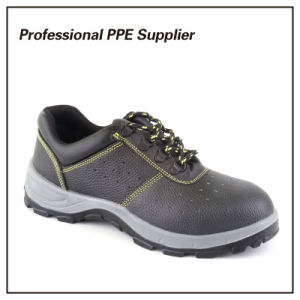High Cut Genuine Leather Cheap Safety Shoes pictures & photos