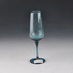 Mouth Blown Solid Color Blue Champagne Glass pictures & photos