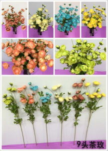 Artificial Flowers of Camellia Rose Gu-Jy9heads-Cammelia pictures & photos