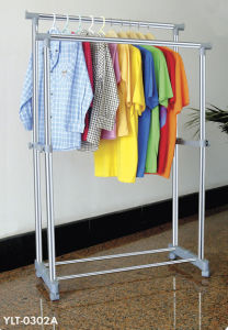 Big-Pipe Stainless Steel Double Rod Clothes Hanger pictures & photos