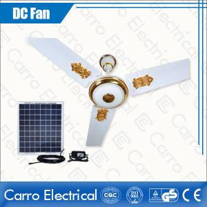Good Quality 12V Solar Operated Decorative Lighting Ceiling Fan